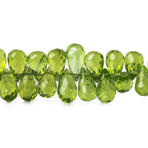 6x5-9x5mm Peridot Faceted Tear Drop Briolettes 9.5 inches 107 pieces
