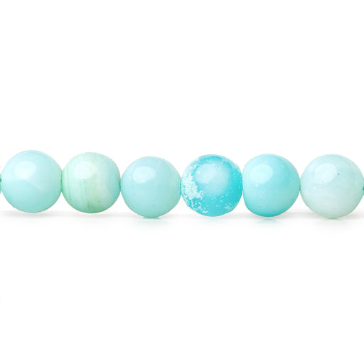 5-6mm Blue Opal plain round beads 13 inch 56 pieces