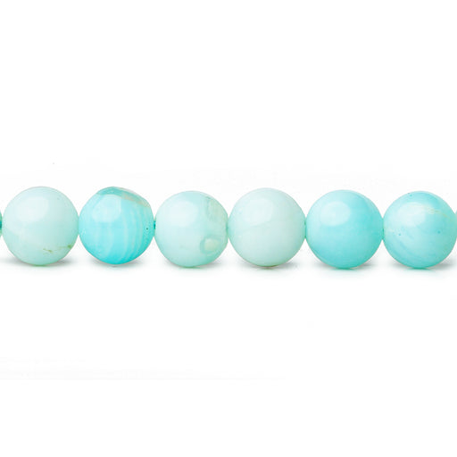 6mm Blue Opal plain round beads 13 inch 55 pieces