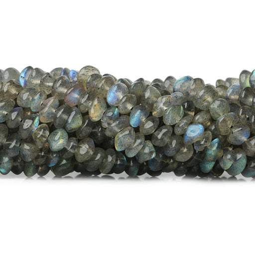 4-5mm Labradorite Native Cut Plain Rondelles 13 inch 110 beads