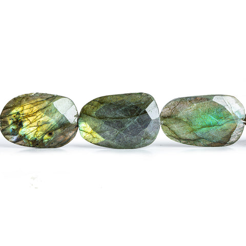 20x15mm-23.5x20mm Labradorite Faceted Nugget Beads 8 inch 9 pieces