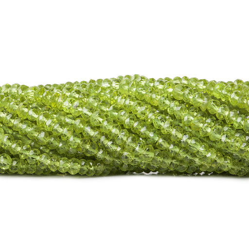 4mm Peridot faceted rondelle beads 13 inch 135 pieces