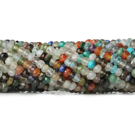 4-4.5mm Multi Gemstone faceted rondelle beads 13 inch 100 pcs