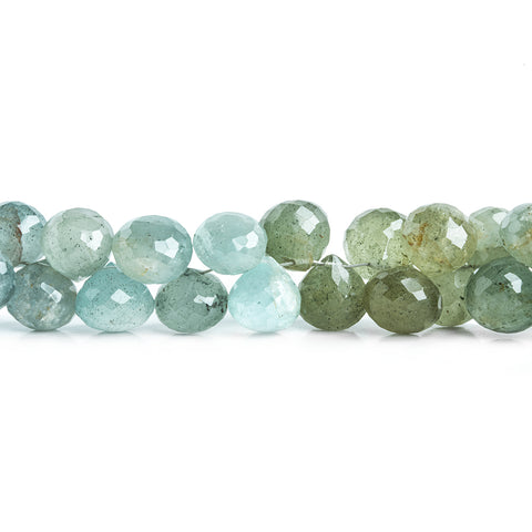 9mm Moss Aquamarine Faceted Candy Kiss Beads 7.5 inch 54 pieces