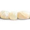 Pale Peach Moonstone Plain Nugget Beads 18 inch 25 pieces
