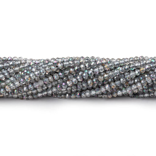2mm Mystic Platinum Grey Topaz microfaceted round beads 13 inch 180 pieces