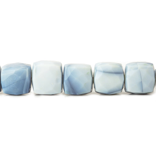7.5-8mm Owyhee Blue Opal faceted cubes 8 inch 25 beads