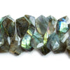 Labradorite Faceted Kite Beads 8 inch 43 pieces 22x13mm - 26x14mm