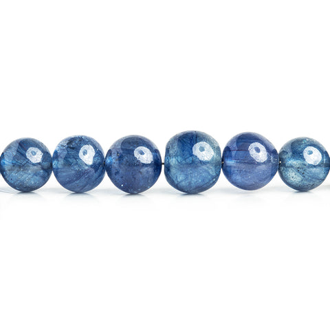 Sapphire Plain Round Beads 18 inch 75 pieces