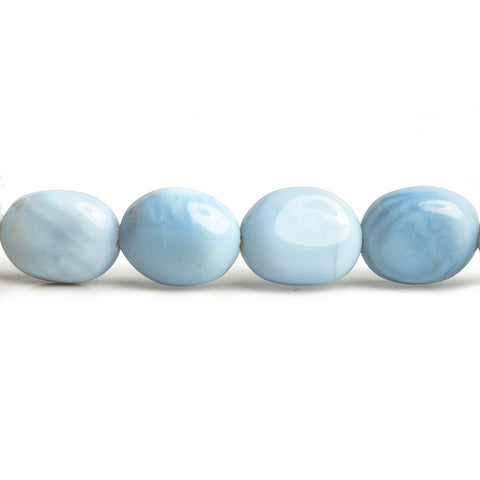 Denim Blue Opal Plain Nugget Beads 18 inch 43 pieces