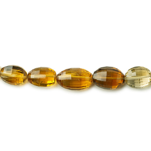 13x10-16x11mm Shaded Citrine Faceted Ovals 18 inch 34 beads A