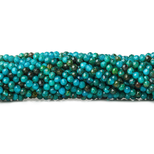 2mm Imitation Chrysocolla microfaceted round beads 13 inch 175 pieces