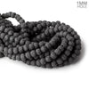 8mm Black Lava Rock plain rounds 16 inch 51 beads
