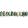 6mm-7mm Matte Chrysocolla Plain Rondelle Beads 7.5 inch 48 pieces