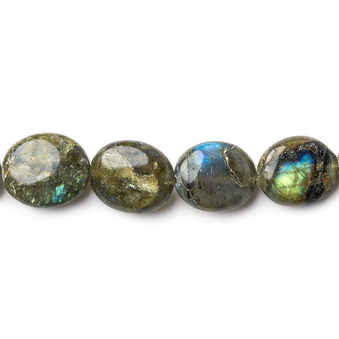 6x5mm-15x13mm Labradorite Plain Oval Beads 18 inch 44 pieces