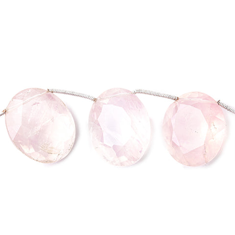 23x17.5mm Rose HydroQuartz Faceted Oval Beads 8.5 inch 9 pieces