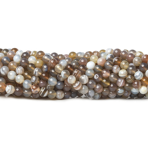 4.5mm Botswana Agate plain round beads 16 inch 93 pieces