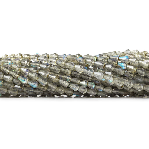 3.5x3-4.5x3mm Labradorite Straight Drilled Tear Drops 18 inch 115 beads AAA