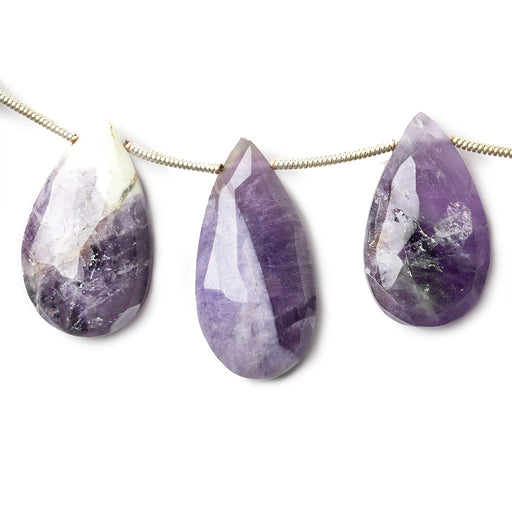 15x9-25x12mm Cape Amethyst faceted pear briolettes 7 inch 13 pieces