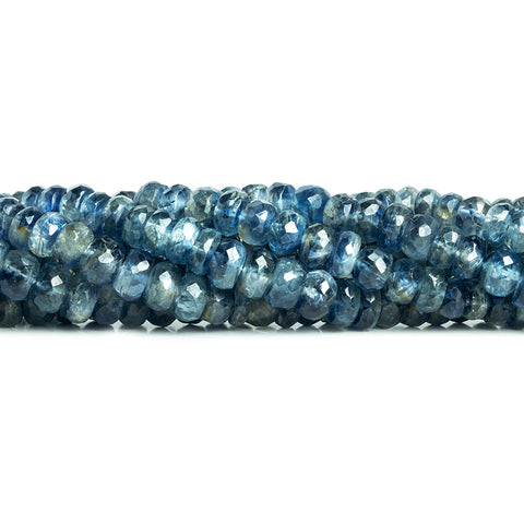 Kyanite Faceted Rondelle Beads 16 inch 170 pieces