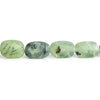 9x9-14x10mm Matte Prehnite tumbled plain nuggets 12 inch 23 beads AA