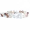 9mm Matte Moonstone Heart Beads 7.5 inch 41 pieces