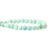 Matte Amazonite plain coin beads 8 inch 24 pieces 7mm - 8mm
