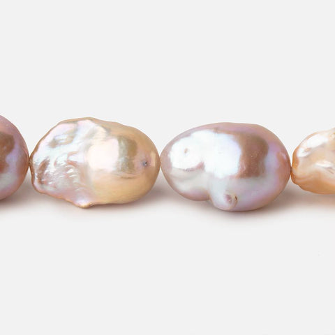 16x14-19x16mm Tri Color Straight Drilled Ultra Baroque Freshwater Pearls 15 inch 21 pieces