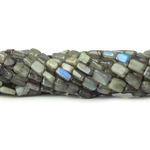Labradorite plain rectangle beads 12.5 inch 43 beads