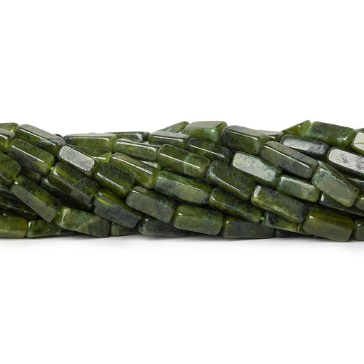 Serpentine plain rectangle beads 12.5 inch 30 beads