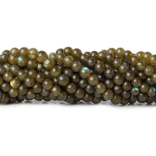 Olive Green Labradorite plain rounds 12.5 inch 58 beads