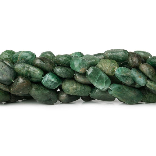 Matte Blue & Green Apatite straight drilled plain nugget beads 12.5 inch 29 beads