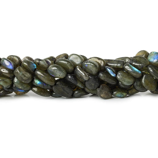 Soft Matte Labradorite straight drilled plain nuggets 13 inch 33 beads