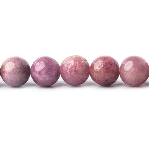 9mm Pink Tourmaline plain rounds 18 inch 51 beads