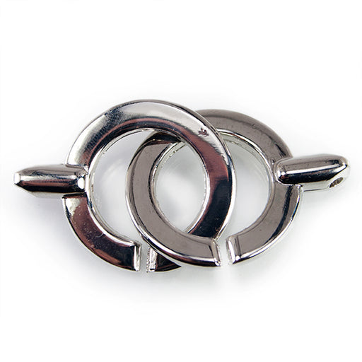 24mm Platinum-tone Interlocking Clasp 1 piece