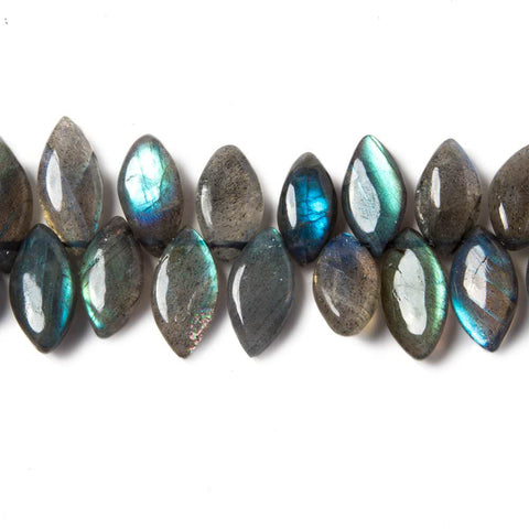 11mm-16mm Labradorite Plain Marquise Beads 8 inch 50 pieces