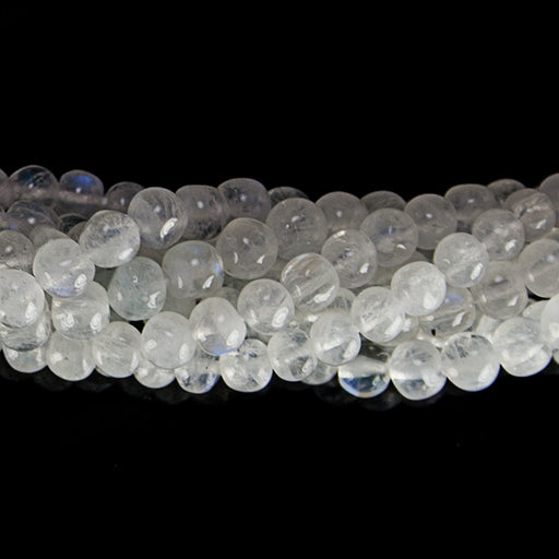 3.5mm Rainbow Moonstone plain round beads 15 inch 98 pieces