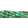 3-4.5mm Chrysoprase & Matrix Plain Rondelle Beads 7.5 inch 66 pieces