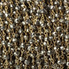 4mm Metallic Gold plated Pyrite & Pyrite Gold plated Chain by the foot