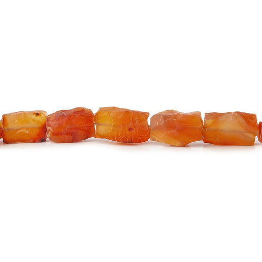 Carnelian Hammer Faceted Rectangle Beads 8 inch 12 pieces