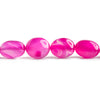 13mm Hot Pink Chalcedony Plain Nugget Beads 16 inch 33 pieces