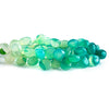 Ombre' Mint Green Chalcedony plain hearts 8 inches 54 beads 11x11mm