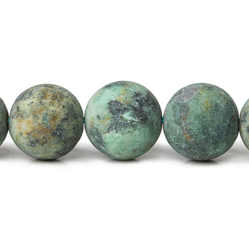 12mm African Turquoise Jasper plain rounds Large 1mm Hole 15 inch 31 beads