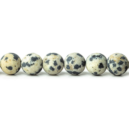 6mm Matte Dalmation Jasper plain rounds Large 1mm Hole 15 inch 63 beads