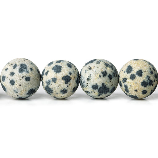 10mm Matte Dalmation Jasper plain rounds Large 1mm Hole 15 inch 38 beads