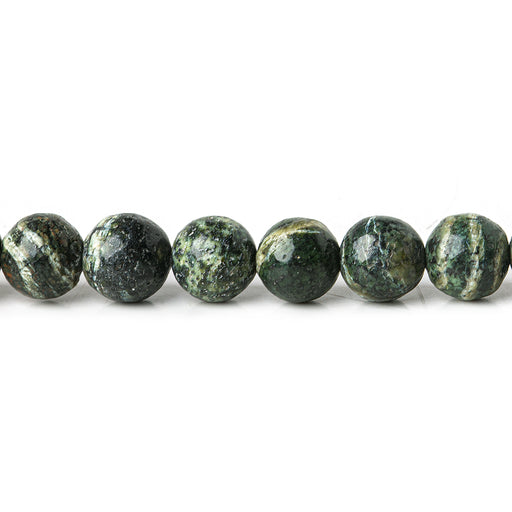 6mm Green Zebra Jasper plain rounds Large 1mm Hole 15 inch 63 beads