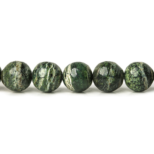 8mm Green Zebra Jasper plain rounds Large 1mm Hole 15 inch 46 beads