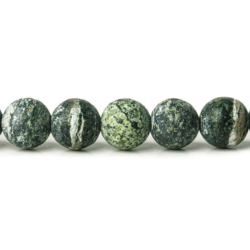 8mm Matte Green Zebra Jasper plain rounds Large 1mm Hole 15 inch 46 beads