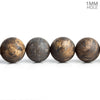 10mm Matte Bronzite Plain Round Beads 15.5 inch 38 pieces