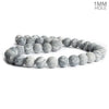 10mm Matte Silver Leaf Jasper Plain Round Beads 15 inch 38 pieces